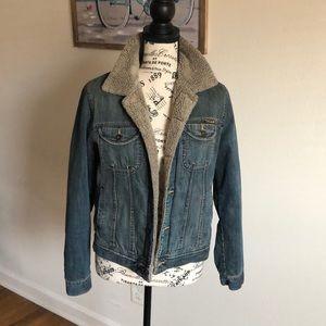 Lucky Brand Denim Sherpa Jacket